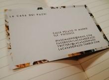 Restaurante Italiano La casa dei Pazzi - Tarjeta