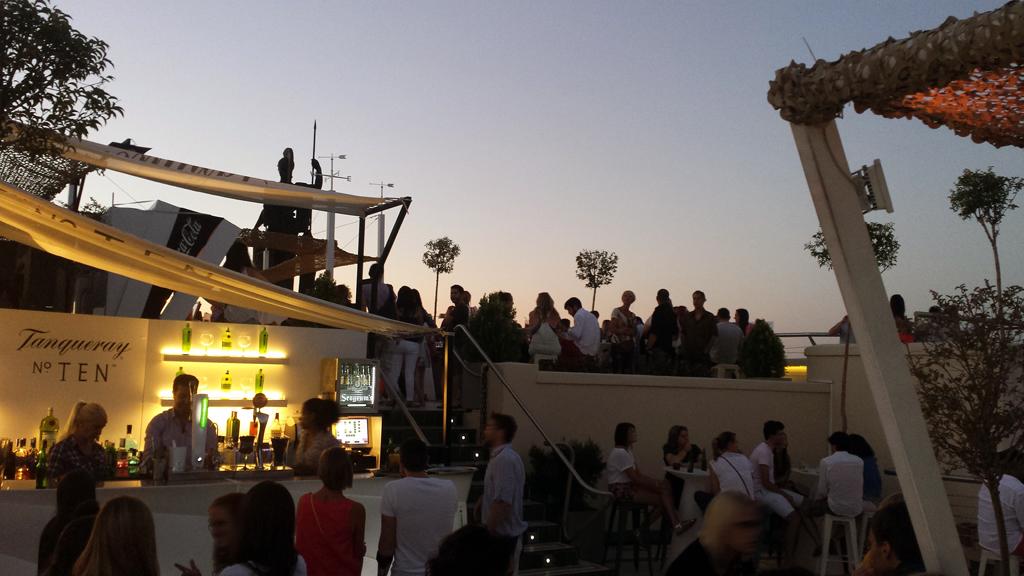 Azotea Del Circulo De Bellas Artes Para Una Tarde Noche De