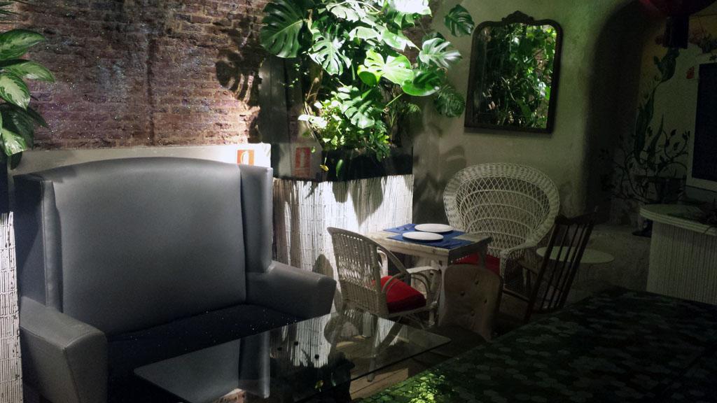 VIVA LA VIDA-el sótano del restaurante vegetariano es ideal para celebraciones