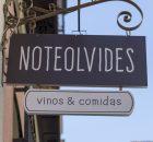 Cartel restaurante Noteolvides, Madrid