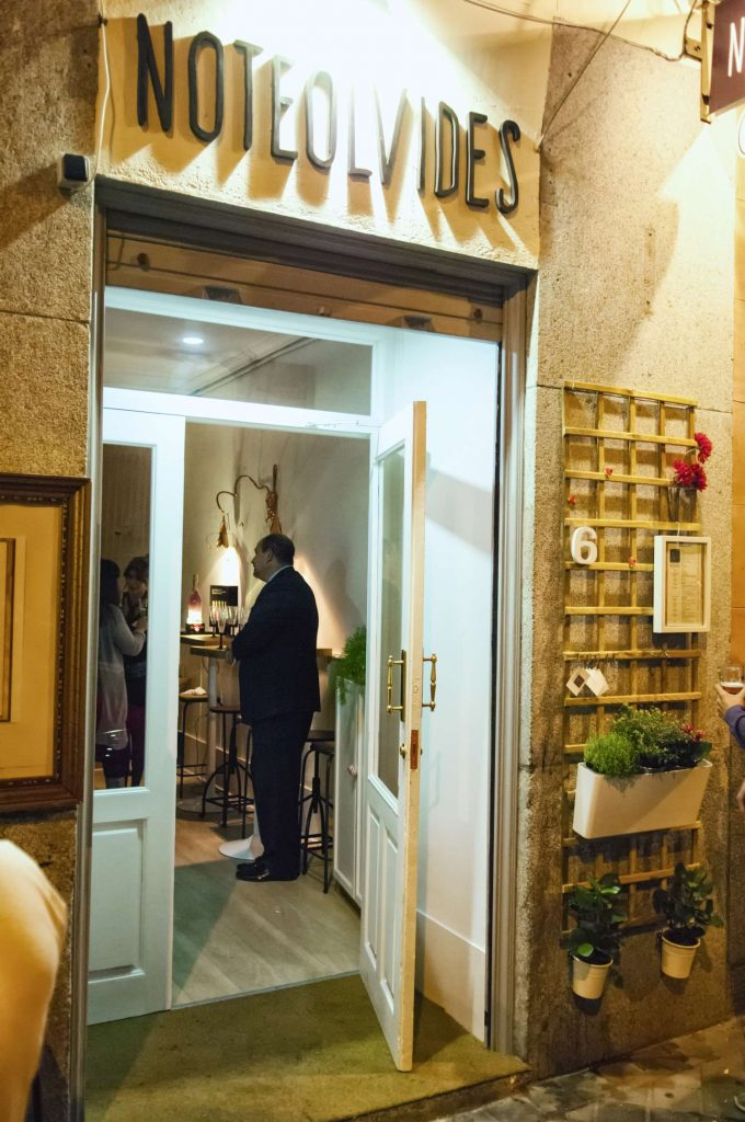 Entrada restaurante Noteolvides, Madrid